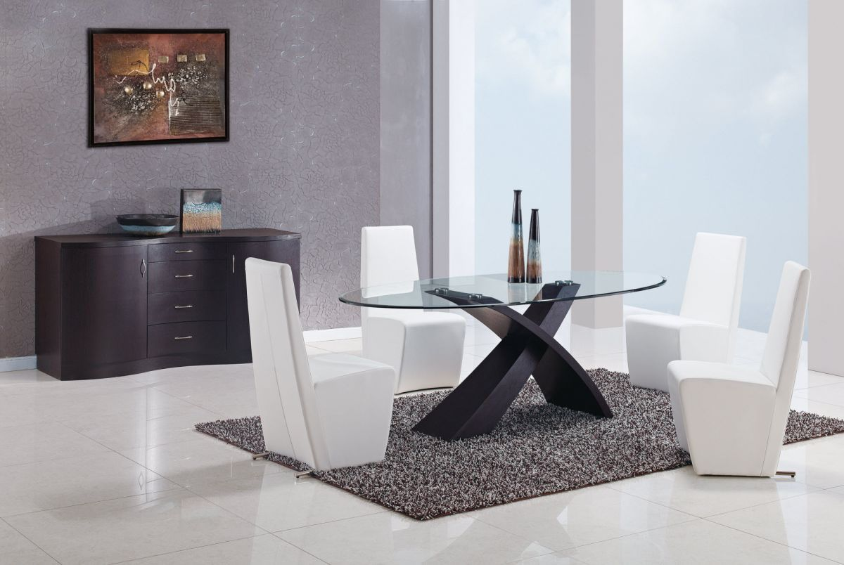 Table and chairs sets italian dining furniture luxury for Table chaise moderne