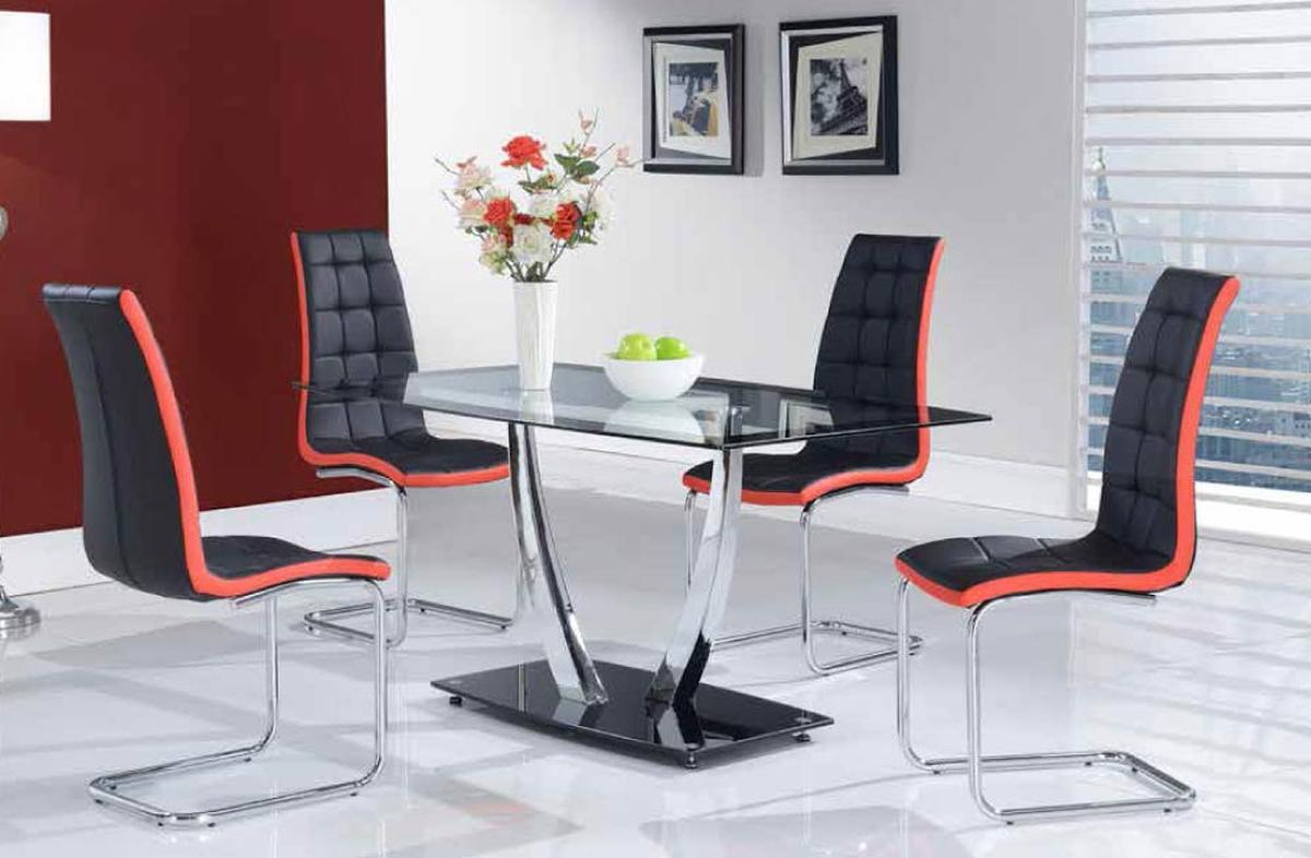 High Class Glass Top Five Piece Designer Dinette Set