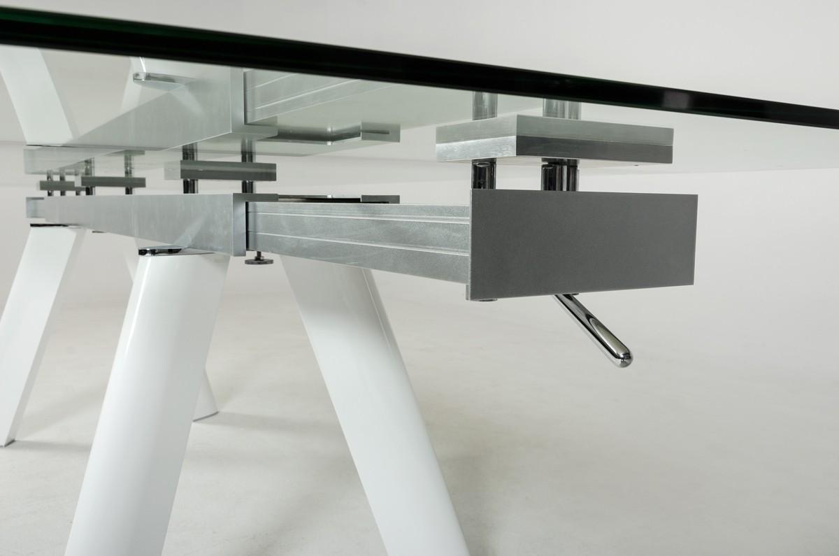 Large Extendable Glass Dining Table Set Los Angeles California  VIG Draft Gallium