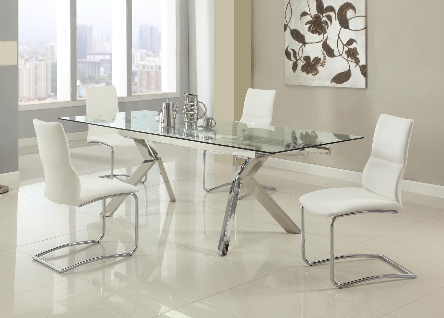 Dining Sets With Chairs Extendable Room Furniture Dinette