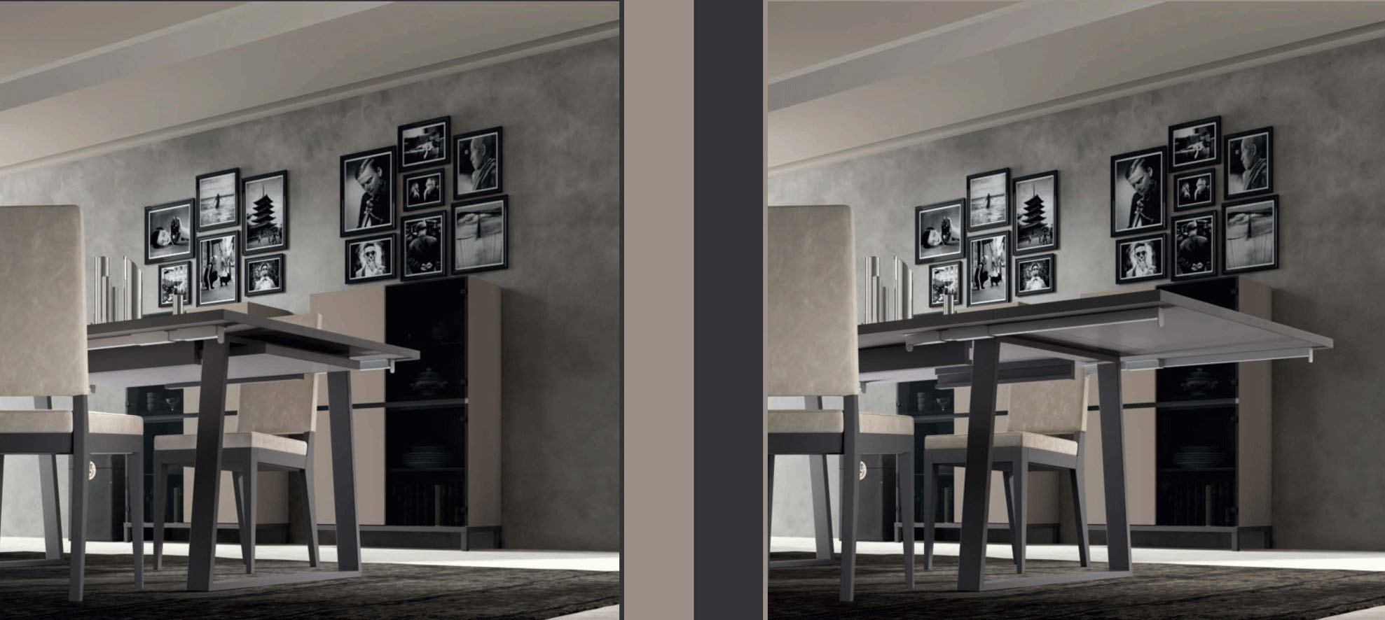Contemporary Style Leather Dining Room Design - Click Image to Close