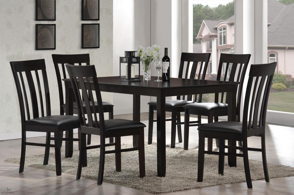 graceful rectangular leather dinner furniture set buffalo. Black Bedroom Furniture Sets. Home Design Ideas