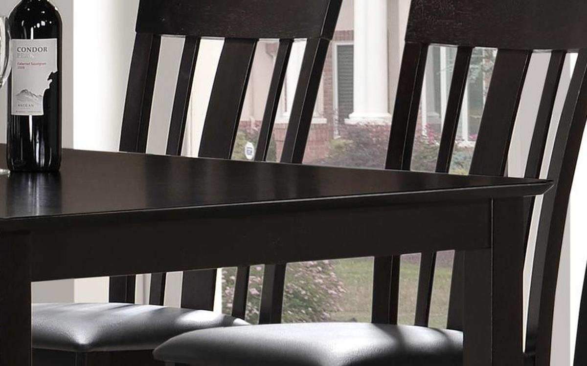 Graceful Rectangular Leather Dinner Furniture Set Buffalo