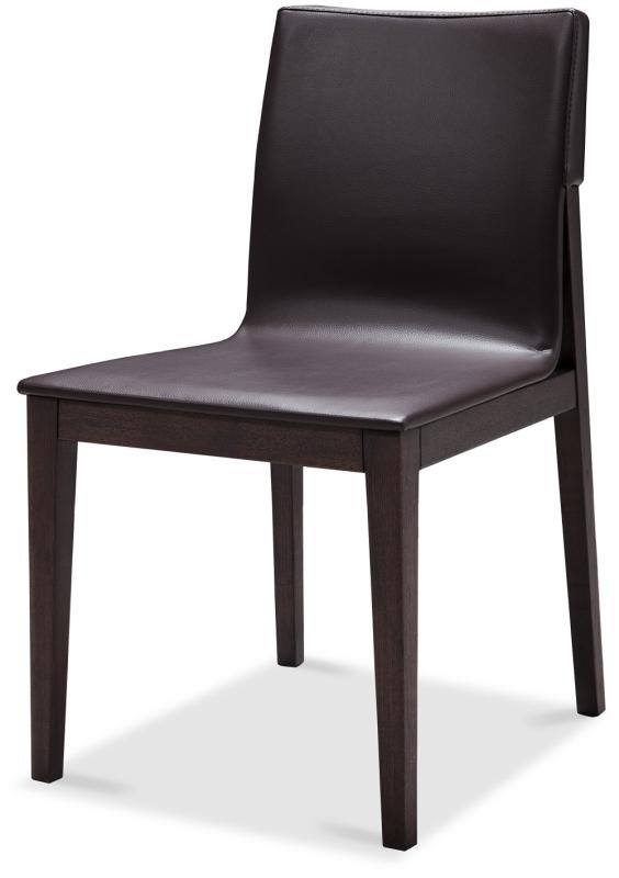 Extendable In Wood Frosted Glass Top Leather Dinette