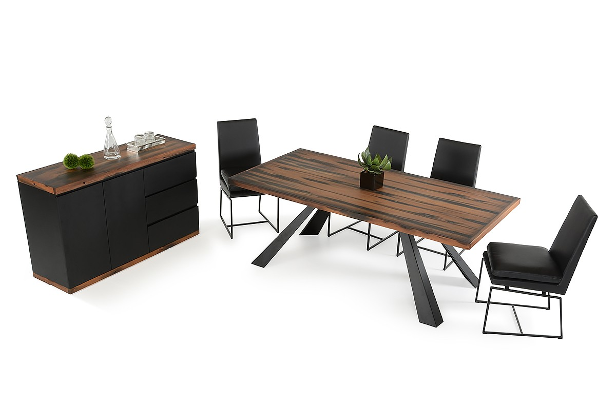 modern recycled ship wood dining table with black metal legs phoenix