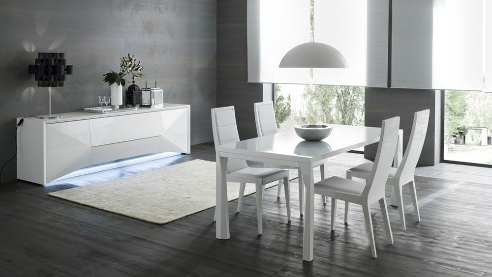Contemporary italian dining table lucido bed mattress sale for Contemporary dining set