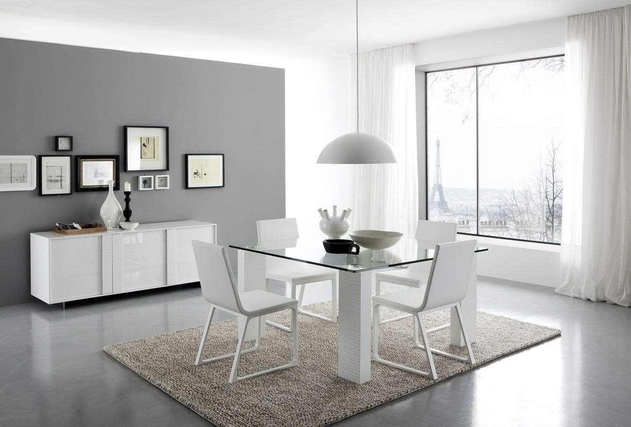 Modern White Dining Room Set G020 With White Chairs Pictures To Pin On
