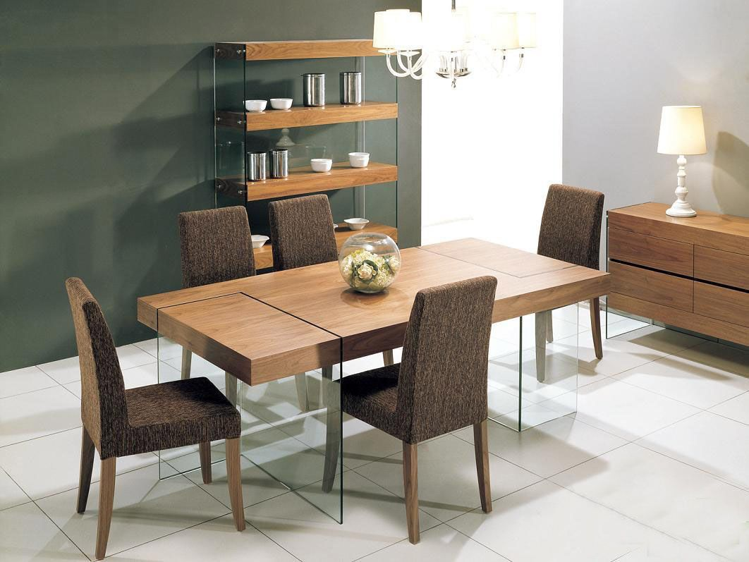 Contemporary Extendable Designer Table and Chairs Set