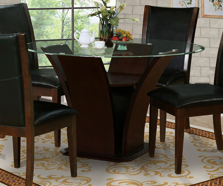 Contemporary Dark Wood Dining Table. The Dining Room Miami Modern .