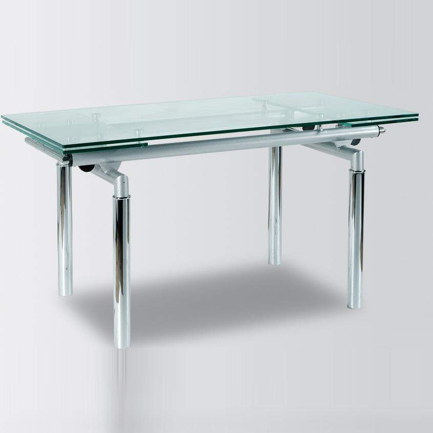 Metal and glass contemporary dining table yonkers new york ah103 - Steel kitchen tables ...