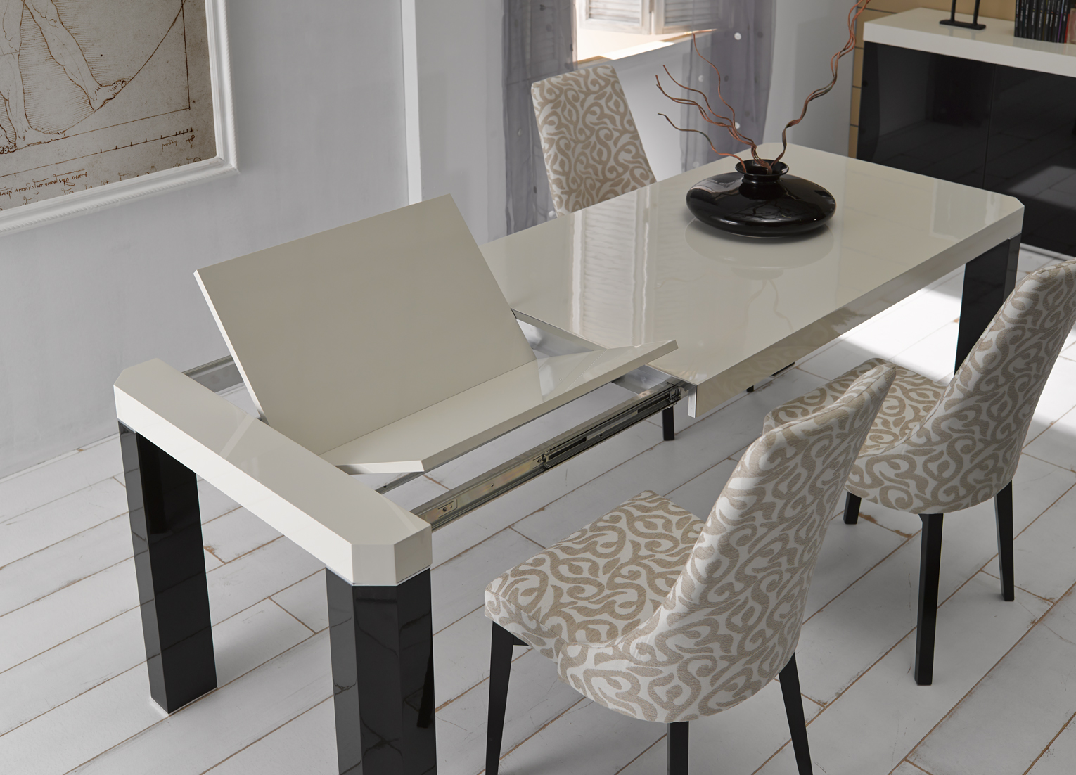 Modern Dining Tables Dinette Furniture Butterfly Extension Table