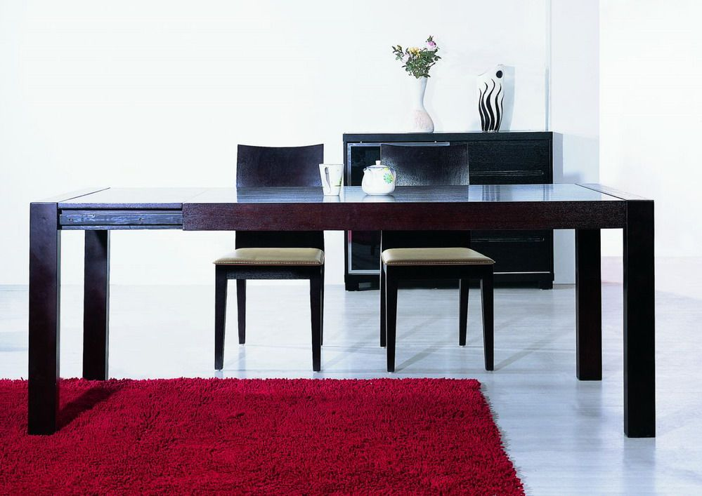Extendable Contemporary Dining Table In Wenge Color Boise Idaho BHA2