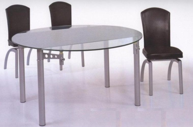 12 Mm Tempered Round Glass Expandable Table Tacoma Washington BHDT001