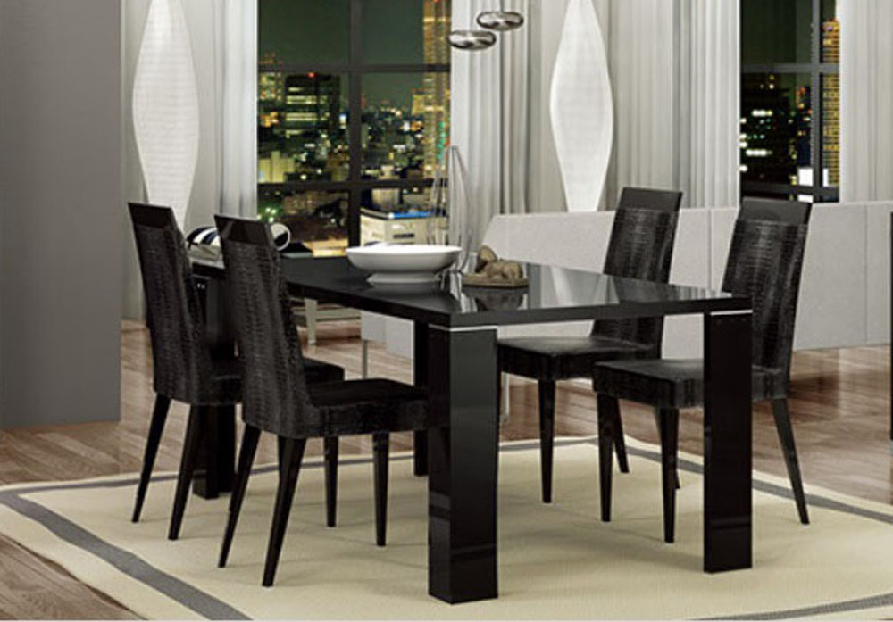 black lacquer italian made dining table aurora colorado aharm