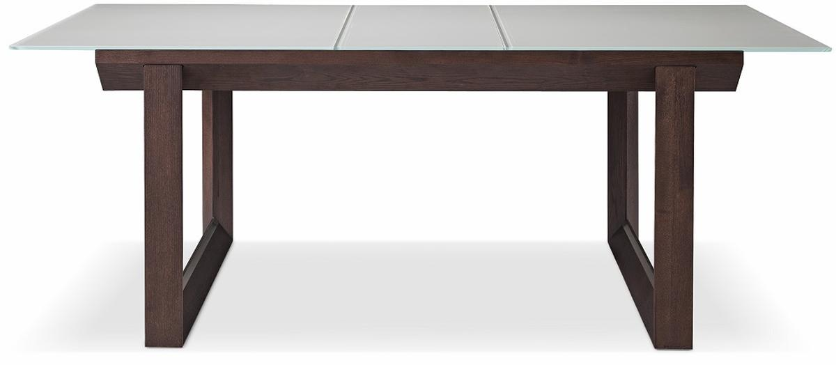 Wood Grain Dining Table with Frosted Top El Paso Texas JampM 537 : brown oak glass table jm537 from www.primeclassicdesign.com size 1200 x 524 jpeg 36kB