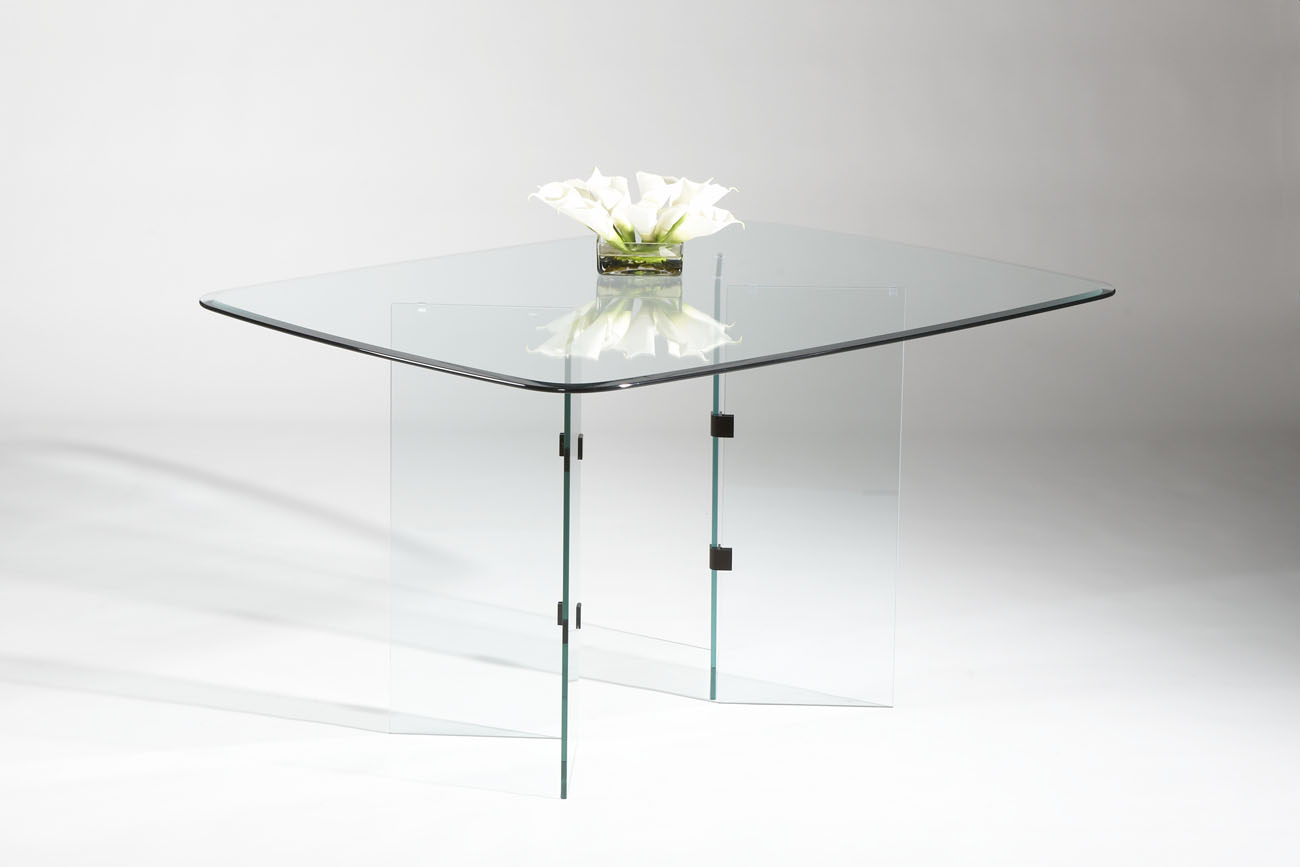 Modern Dining Tables, Dinette Furniture. Rectangular All Glass ...