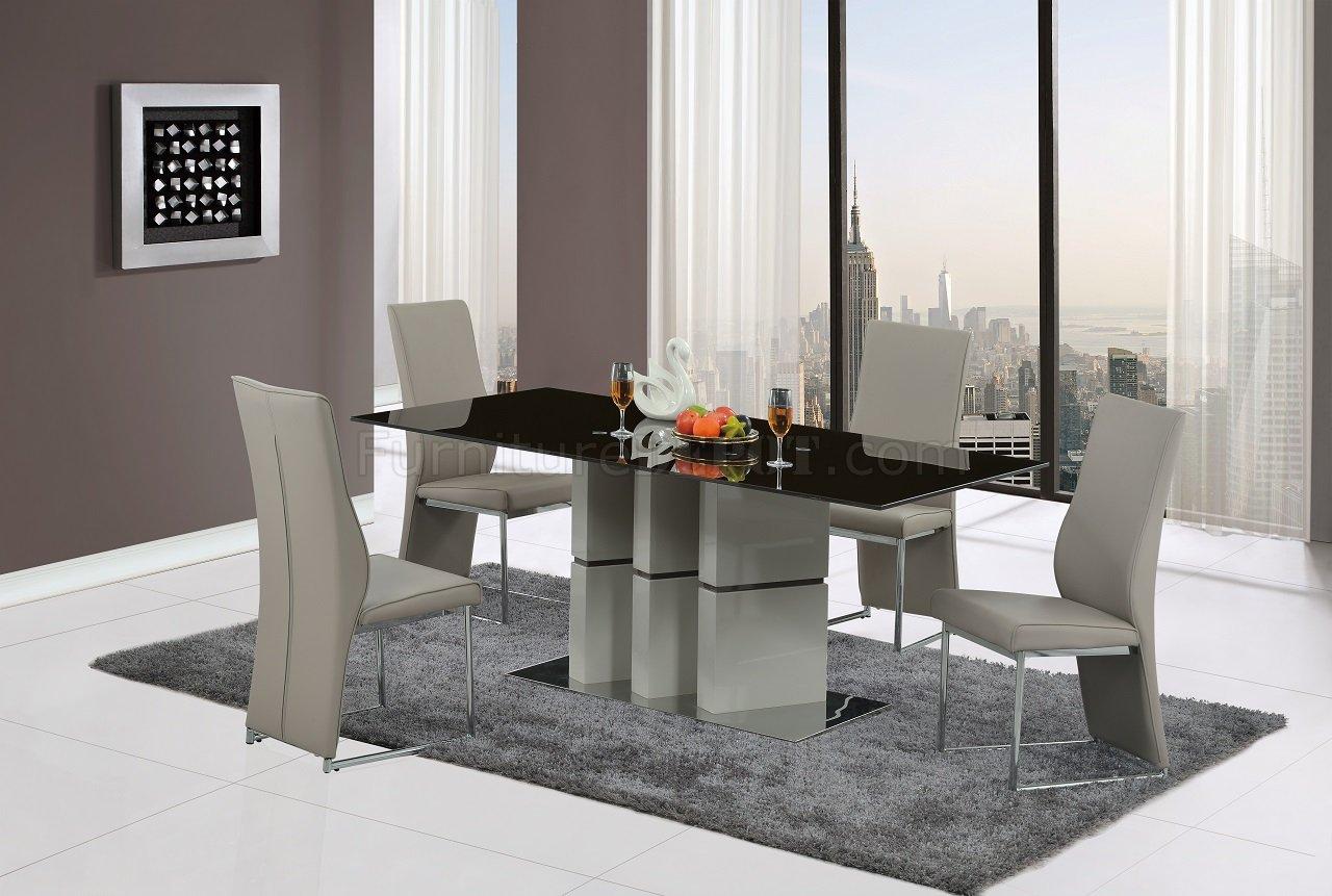 Contemporary Brown-Gray Five Piece Dining Set Dallas Texas GF-D647DT ...