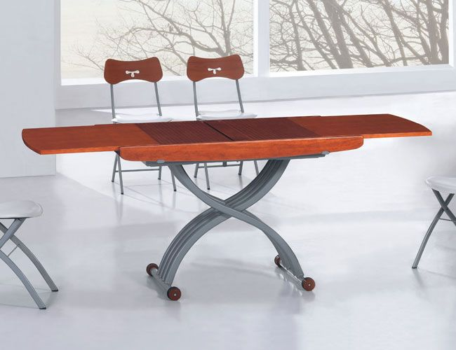 Stainless Steel Adjustable Base Extendable Dining Table Columbus Georgia ESF2110