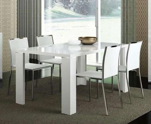 Italian White High Gloss Extendable Dining Table Elegance