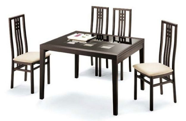 Poker Cappuccino Contemporary Dining Table Sioux Falls  : esf pokercap diningtable02 from www.primeclassicdesign.com size 625 x 407 jpeg 28kB
