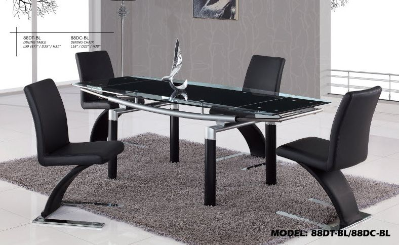 Foldable Glass Top Dining Table With Color Options