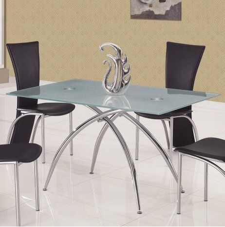 Glass And Metal Contemporary Dining Table Pasadena California GFT12DT