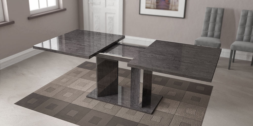 Grey Finished Dining Table Imported And Made In Italy Toledo Ohio AHSAR