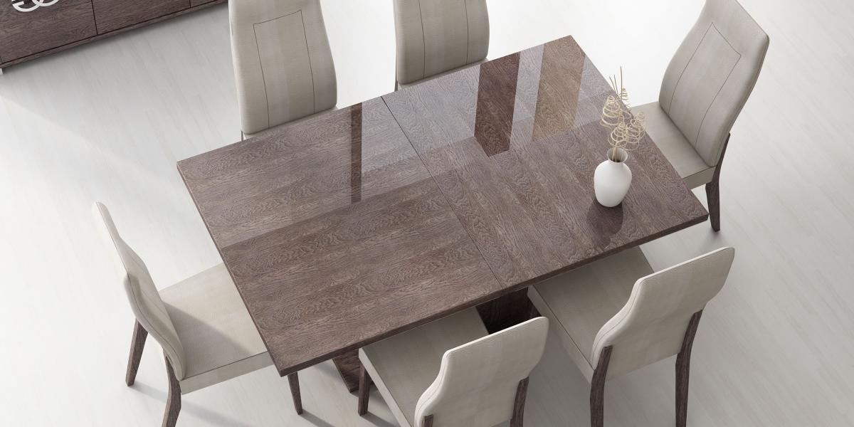 Italy Made Prestige Extendable Walnut Dining Table Boston