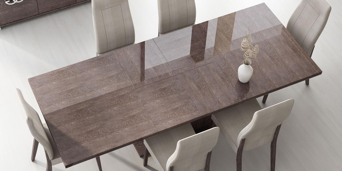 Italy Made Prestige Extendable Walnut Dining Table Boston