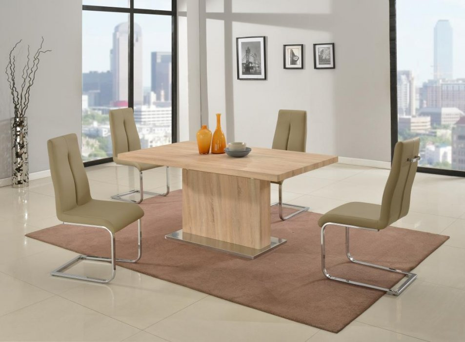Light Oak Table with Middle Extension Denver Colorado CHJAC