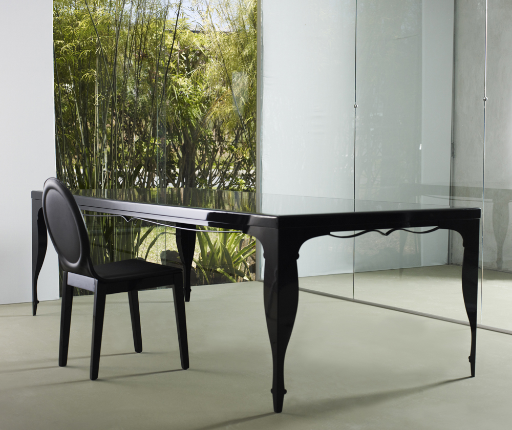 extra long black or white dining table made in brazil plano texas mlelm102. Black Bedroom Furniture Sets. Home Design Ideas