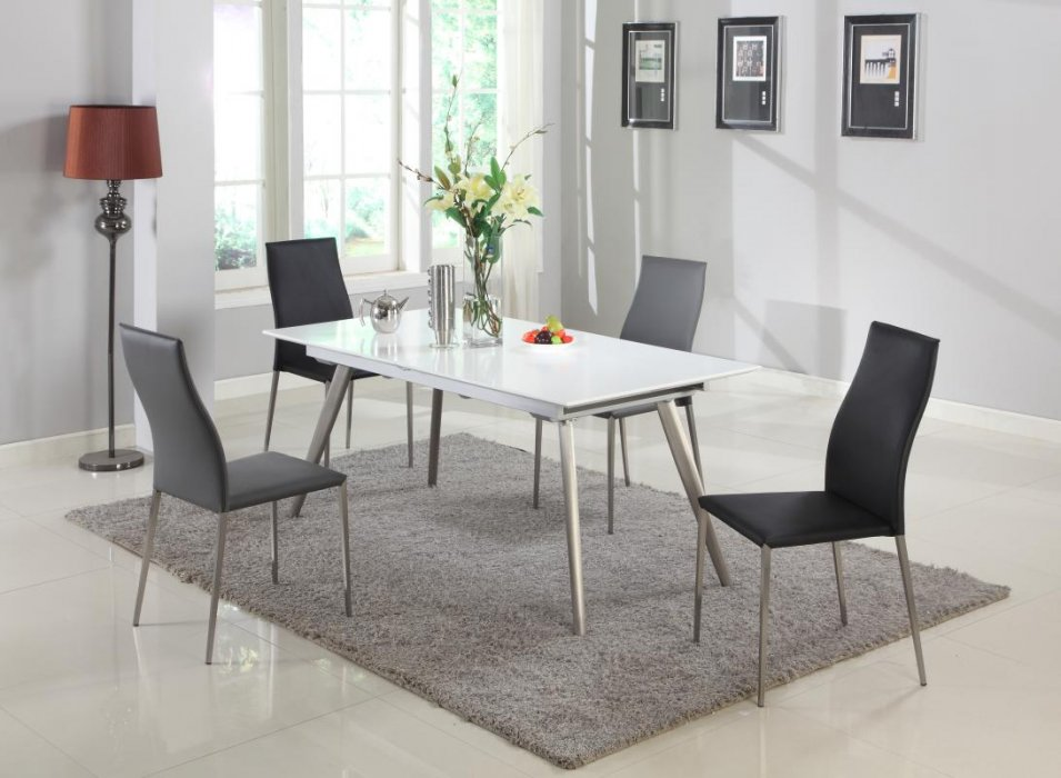 White extendable dining table nashville davidson tennessee for Dining table nashville tn
