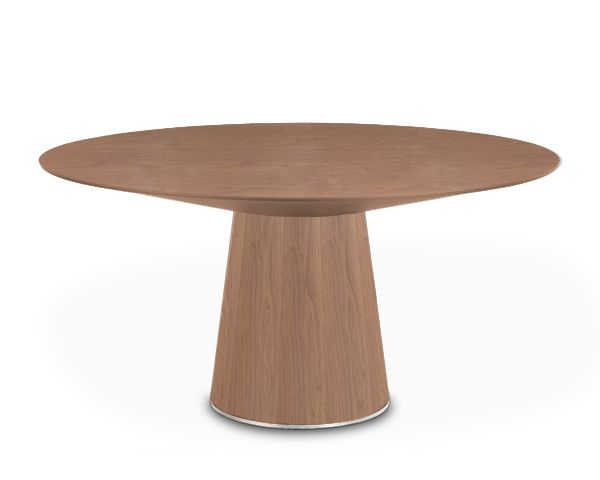 Centre contemporary round dining table winston salem north for Modern large round dining table