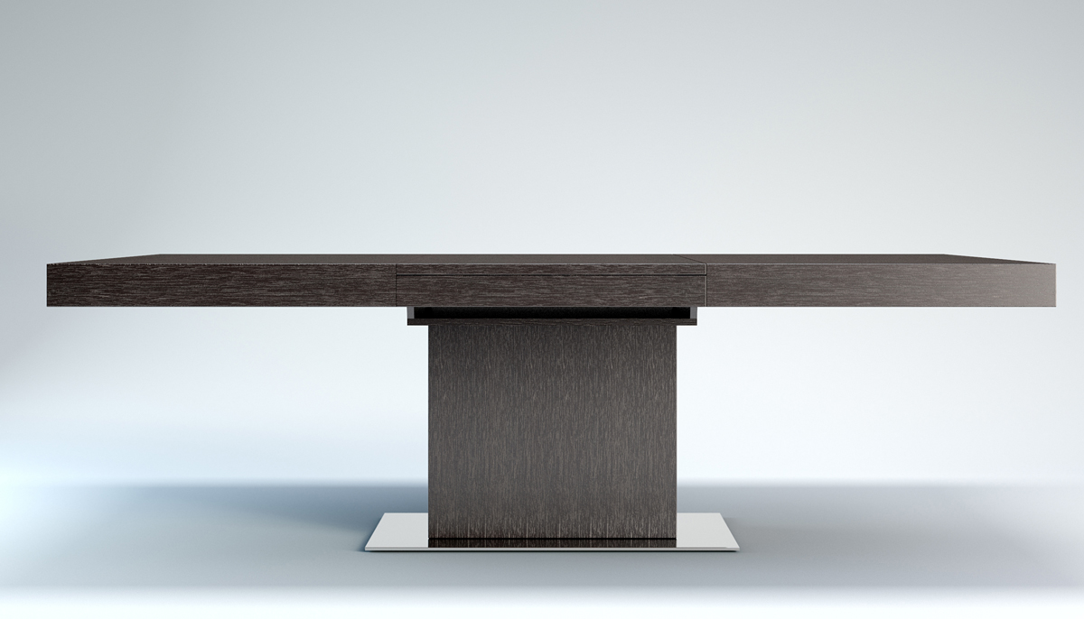 Contemporary Extendable Dining Table With Three Color