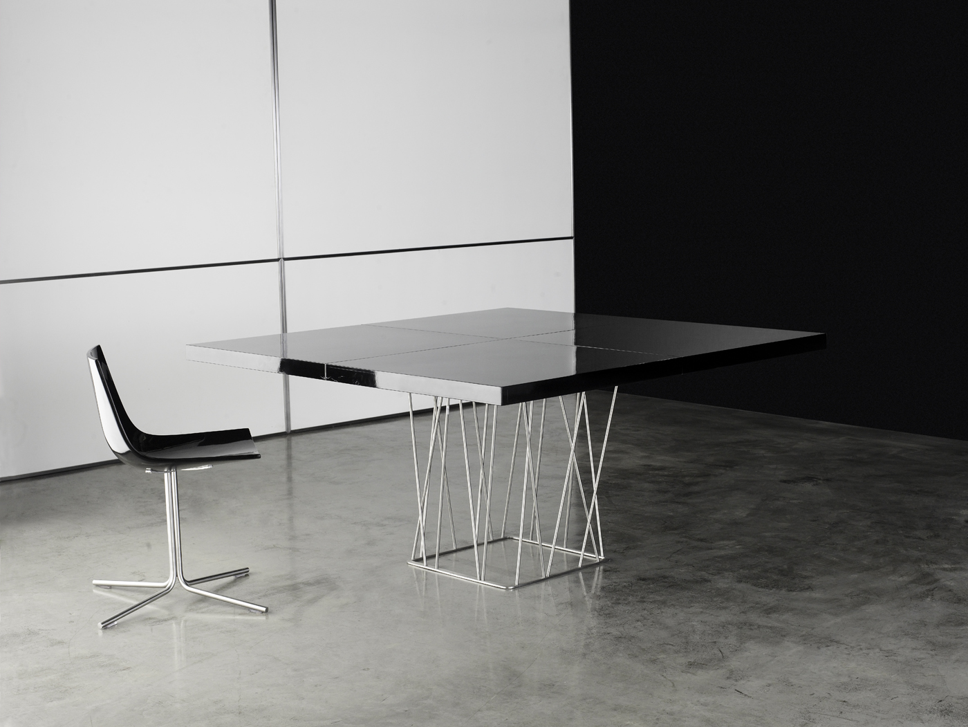 Modern Dining Tables Dinette Furniture Square High Gloss Lacquer