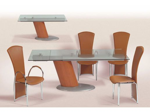 Modern Dining Tables Dinette Furniture Comet Glass Contemporary Extendable Table