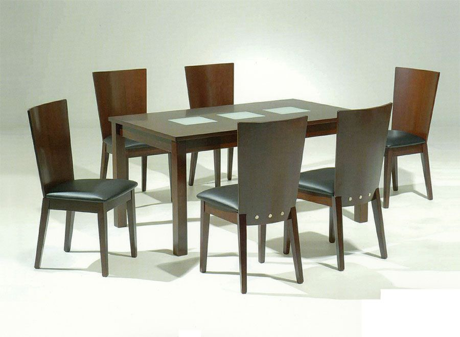 Spoleto contemporary dining table w unique frosted glass for Different dining tables