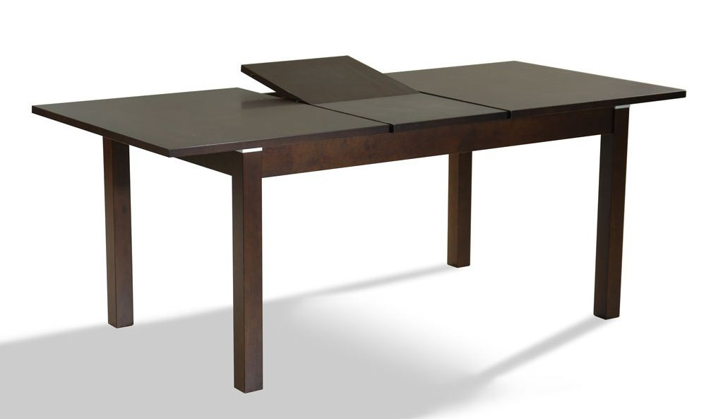 Dark Walnut Extendable Contemporary Dining Table Coral