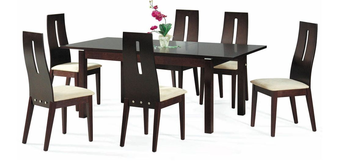 Dark Walnut Extendable Contemporary Dining Table Coral  : ns cafe30 diningtable01 from www.primeclassicdesign.com size 1113 x 544 jpeg 54kB