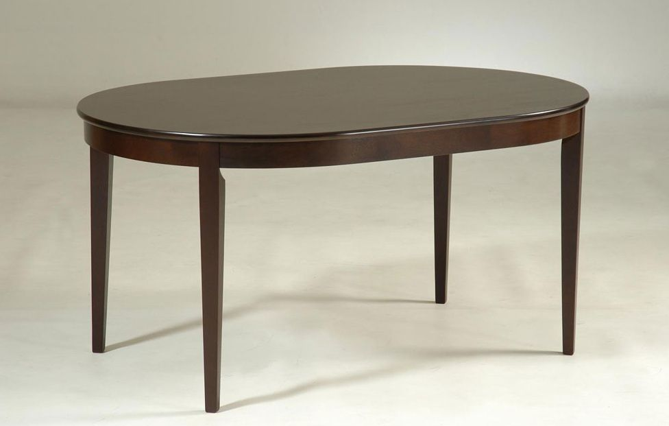 Oval Shaped Dark Walnut Rubberwood Dining Table Concord California Nscafe33