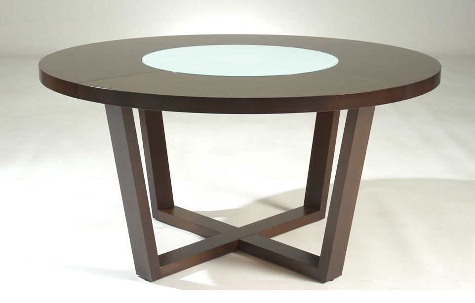 Round shaped solid wood dining table flint michigan nscafe61 for Modern wooden dining table designs
