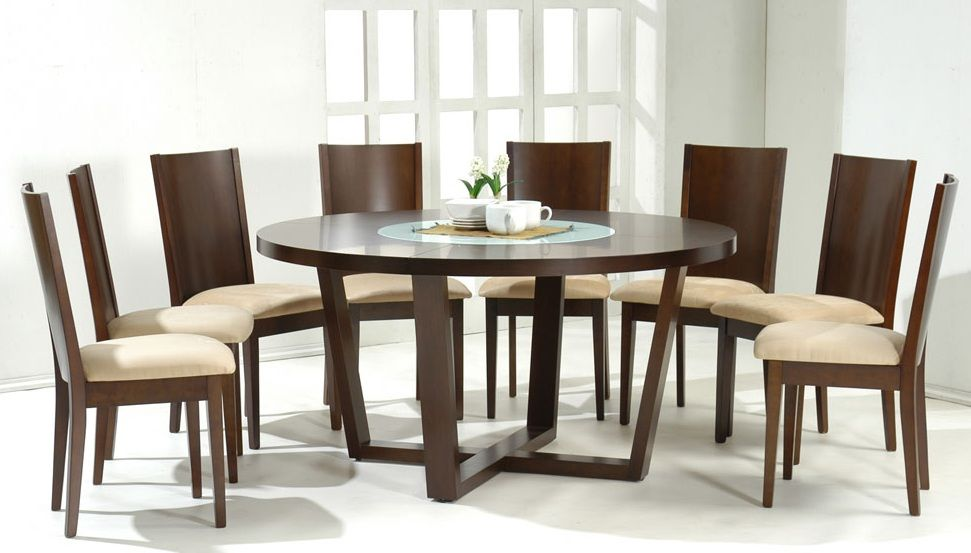 modern dining tables dinette furniture round shaped solid wood - Dining Table Round Wood