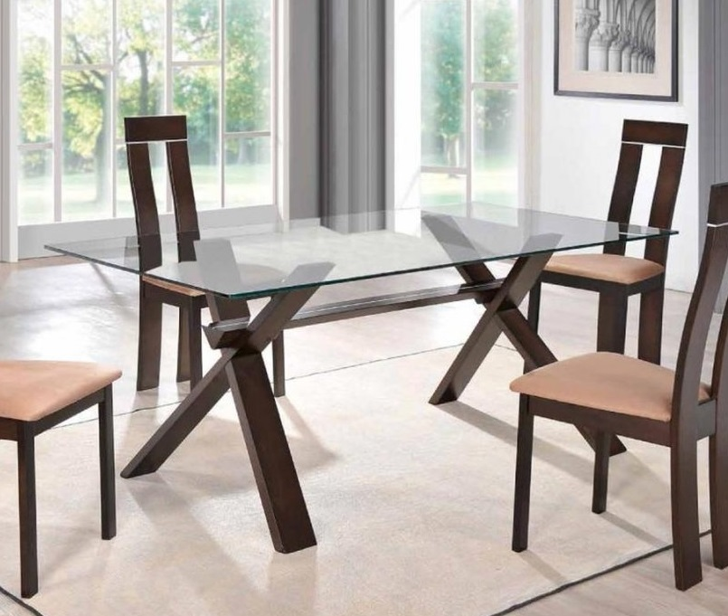 Rectangular Glass Table With X Shaped Legs Jacksonville Florida GF6846