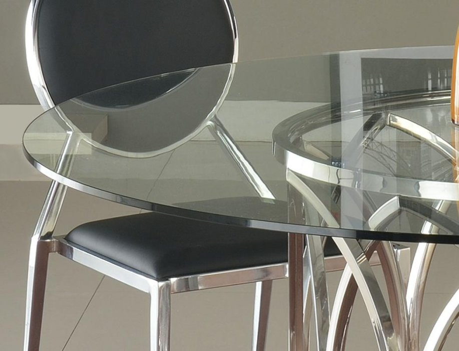 Round Glass Dining Table With Steel Base San Antonio Texas