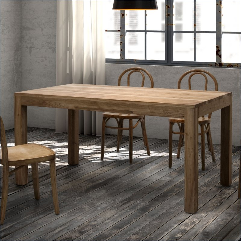 Rectangular Natural Wood Contemporary Dining Table Dallas Texas ZFILL