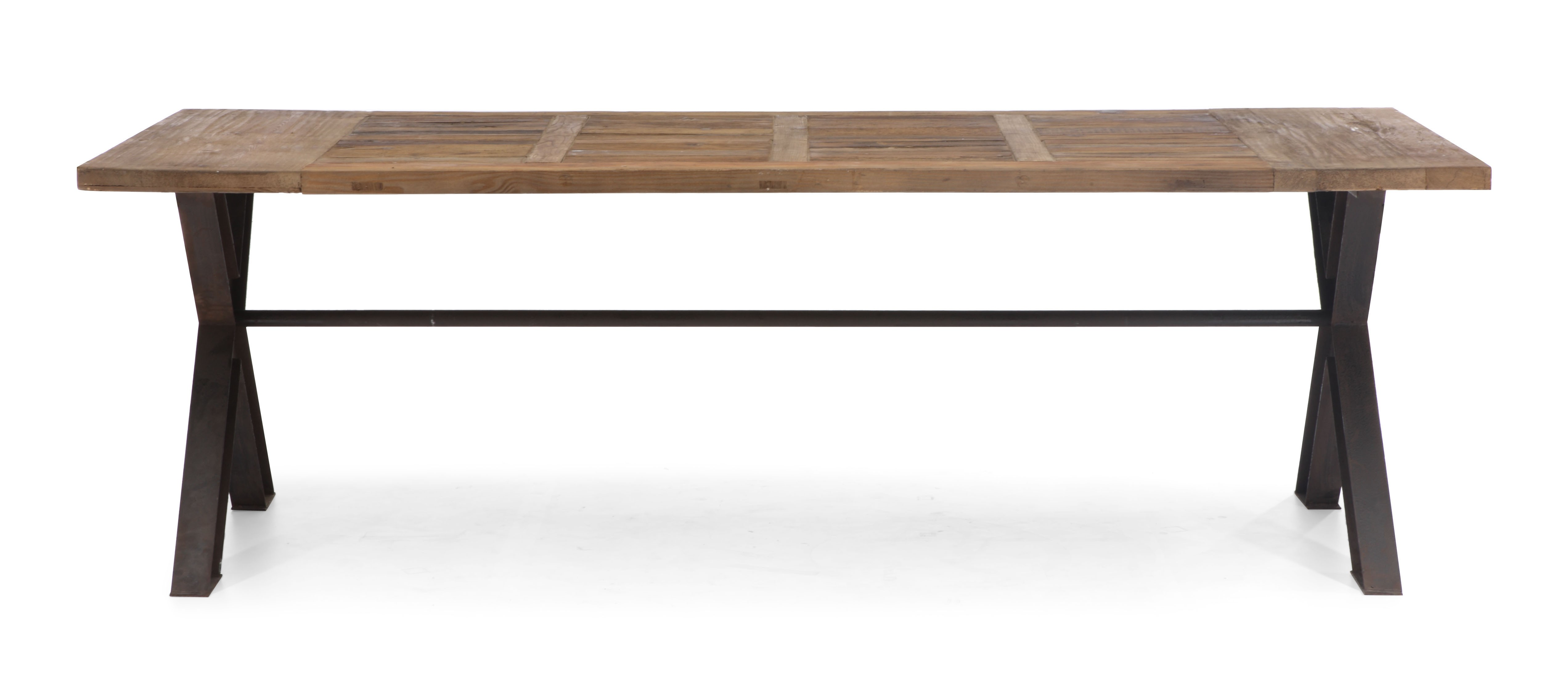 Contemporary Trestle Legs Dining Table With Intricate Top San Antonio Texas Z