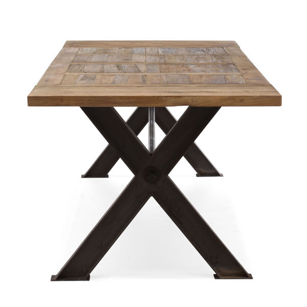 Contemporary Trestle Legs Dining Table with Intricate Top  : zhaight wooden dining table03 from www.primeclassicdesign.com size 600 x 600 jpeg 30kB