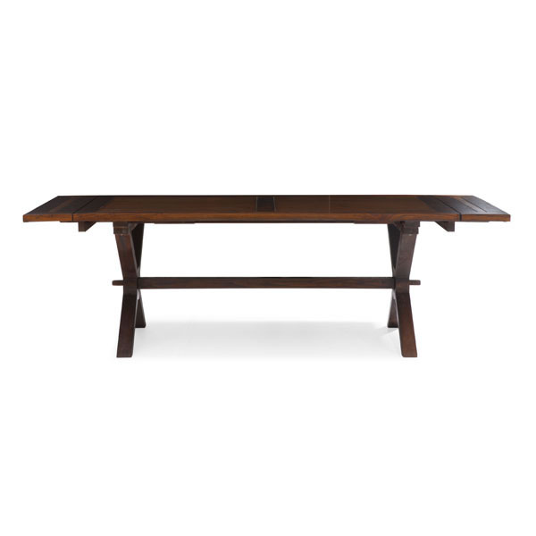style wooden extendable dining table with x legs chicago illinois zlau