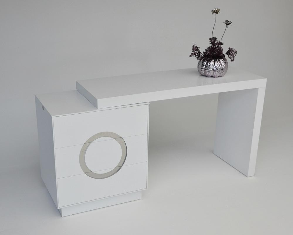 Transitional white vanity table with extendable top prime classic dressers mirrors master bedroom furniture transitional white vanity table geotapseo Choice Image