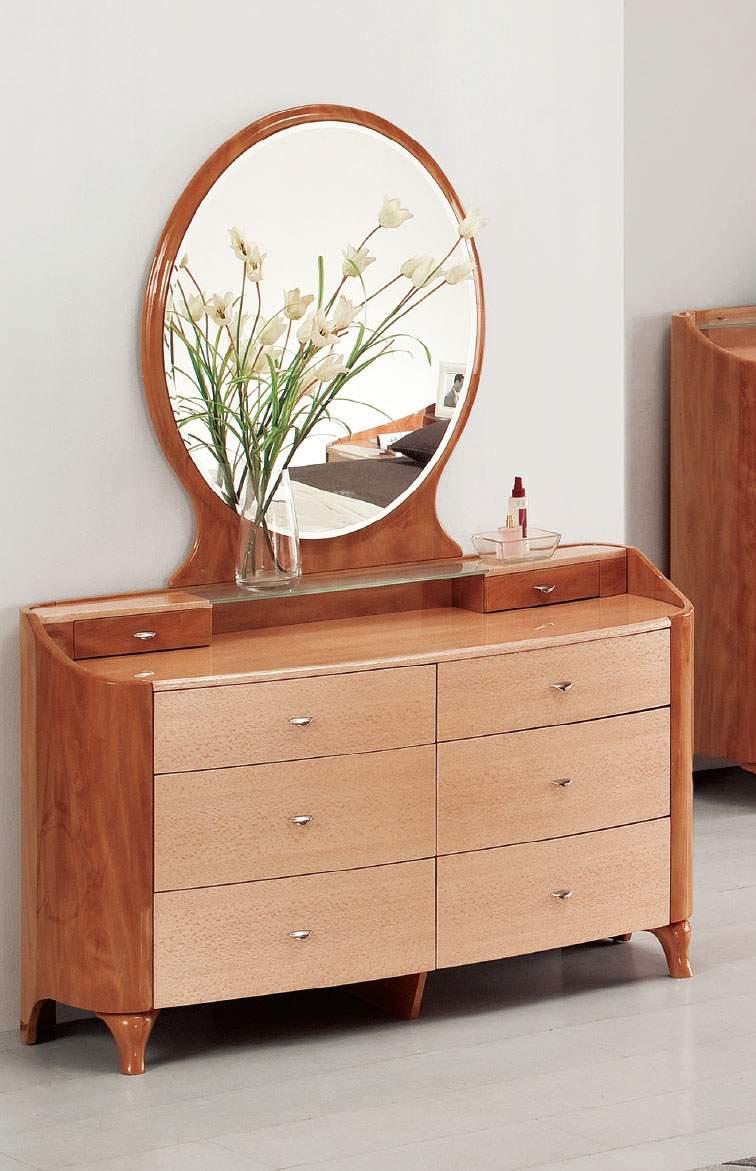 contemporary dresser round mirror and unique glass shelf with storage prime classic design. Black Bedroom Furniture Sets. Home Design Ideas